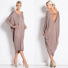 """""""Metaphor"""" Dolman Sleeve Midi Dress Dolman sleeve midi dress. Available in taupe, black and heather grey. This listing is for the TAUPE. True to size. Brand new. NO TRADES. Bare Anthology Dresses Midi"""