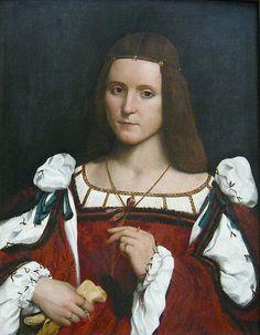 CAROTO Portrait of a Lady (Isabella d'Este?) #TuscanyAgriturismoGiratola Interesting trim on the camicia