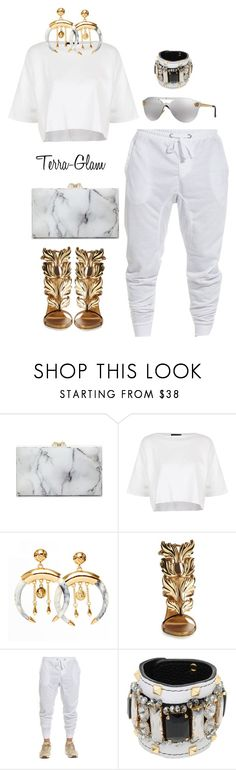 """Marble Marble"" by terra-glam ❤ liked on Polyvore featuring Charlotte Olympia, Topshop, Giuseppe Zanotti, GEDEBE and Versace"