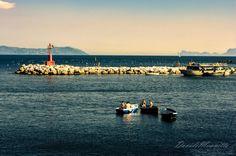 Naples.Sunset,Capri,seagulls,buoy ecc by Davide Mennitto on 500px