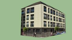 Modelando un edificio en 3D a partir de una fotografia de 2D