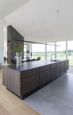 Kitchen Interior, Interior Design Living Room, Baby Snacks, Cabin Kitchens, Contemporary Kitchen Design, Dream Home Design, Küchen Design, Cool Rooms, Home Fashion