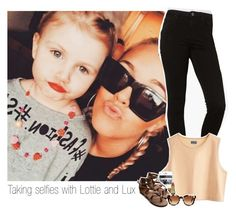 """""""Taking selfies with Lottie and Lux"""" by shefi-22 ❤ liked on Polyvore featuring Topshop, MTWTFSS Weekday, Ollio, Revlon and Fendi"""