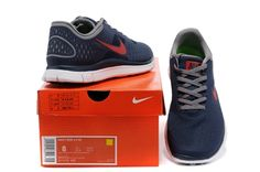 Cheap Nike Free 4.0 V2 For Men Running Shoes Dark Blue Red         #Nike #Sneakers