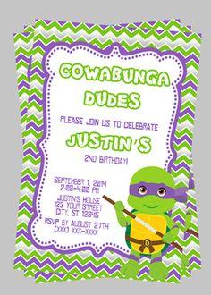 Teenage Mutant Ninja Turtle Personalized By PartyCreations4u