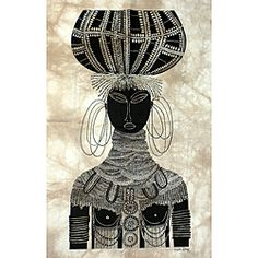 'Turkana Bride' Heidi Lange Screen Print (Kenya) | Overstock.com Shopping - The Best Deals on Wall Hangings