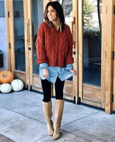 30 Easy Thanksgiving Outfit Ideas by Wearing Legging and Boots Style Style Legging Outfits, Black Leggings Outfit, How To Wear Leggings, Sporty Outfits, Leggings Fashion, Tribal Leggings, Sweatpants Outfit, Athleisure Outfits, Chill Outfits