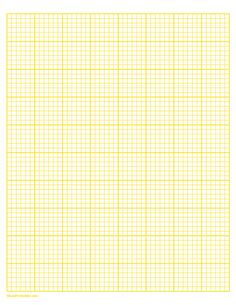 Printable 6 Squares Per Inch Yellow Graph Paper for Letter Paper Graph Paper, Printable Paper, Squares, Free Printables, Templates, Lettering, Yellow, Stencils, Bobs