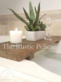 Rustic Bathtub Caddy-Wood Bathtub Tray Bath shelf