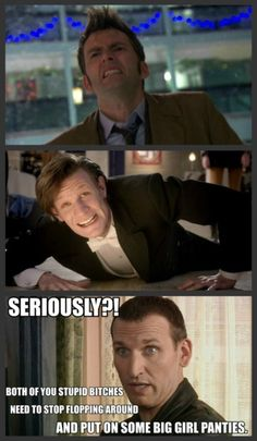 This is why I love Nine. He's the Doctor most capable of handling things like a boss, and he STILL gets no respect!