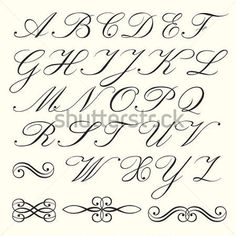 Fancy Alphabet Letters Printable Stencils