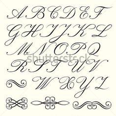 alfabeto corsivo lettering - Cerca con Google