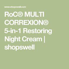 RoC® MULTI CORREXION® 5-in-1 Restoring Night Cream | shopswell
