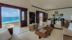 Zemi Beach Luxury Property Anguilla - Open Living with a View