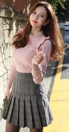 Korean Women`s Fashion Shopping Mall, Styleonme. Kpop Fashion Outfits, Cute Fashion, Girl Fashion, Fashion Models, Womens Fashion, Dresses For Teens, Sexy Dresses, Vintage Dresses, Short Dresses