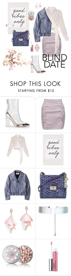 """""""Blind date"""" by vickiecookie ❤ liked on Polyvore featuring WithChic, Urban Outfitters, Acne Studios, Oscar de la Renta Pink Label, Accessorize, Guerlain, Clinique and Ted Baker"""