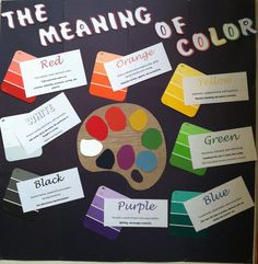 ra-rachael:  This is my first bulletin board in my new hall! I chose to do the meaning of color because color can contribute a lot to personalities. My girls are seeing that personalities clash easily with the people you live with, so it is my goal to work on that!
