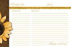 Free Recipe Card Templates For Word Entrancing 4X6 Recipe Card Template  Paisley Recipe Cards And Divider Set For .