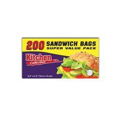 6 1/2 x 5 1/2 Inch Sandwich Bag Super Value Pack/Case of 4800