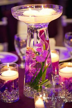Set Of 24 Deluxe Calla Lily Orchid Glass Vase Wedding Reception Table Centerpieces, off Wedding Vases, Wedding Reception Tables, Wedding Table Decorations, Decoration Table, Table Centerpieces, Wedding Flowers, Decor Wedding, Reception Ideas, Lavender Wedding Centerpieces