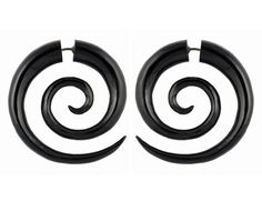 Fake Guages - Double Spirals - Black Horn Large. $25.00, via Etsy.
