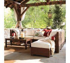 Loungehoek in tuin