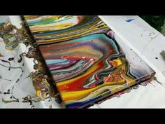4-cup Acrylic Pour - Awesome Colors and Cells! - YouTube