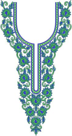 Latest Neck Designs for Kurtis / Dress / Suit / Men's Neck Download Embroidery Design File in .EMB Format.