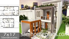 Apartment Plans with 18 UnitsThe House has:-Car Parking and garden-Living room,-Dining Bedrooms units Bed units Modern Bungalow House Design, Duplex House Design, House Front Design, Small House Design, 3 Storey House Design, Double Storey House, Small Apartment Plans, Apartment Layout, Narrow House Plans