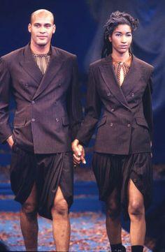 "1991 - Jean Paul Gaultier show ""1+1=1"" -"