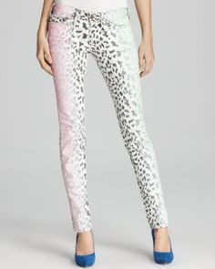 Current/Elliott Jeans - The Stiletto in Neon Leopard Print Denim! Spring Summer Fashion Trends 2012 ...love these is only the legs were a bit more twiggy ....