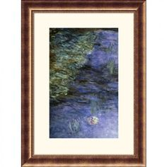 Great American Picture Water Lilies (Detail) {Nymphaeas (Detail)} Bronze Framed Print - Claude Monet