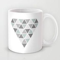 Geometric coffee mug, diamond design on society6 by Limitation Free #society6