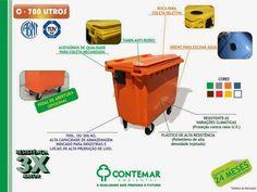 O contentor de lixo (container de lixo) C-700 da Contemar Ambiental é ideal para…