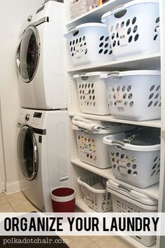 Laundry Room Ideas- Shelving & Cubbies- The Polka Dot Chair