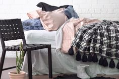 DIY Tassel Blanket by Gem Adams for homestyle magazine