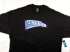 Diamond Supply Co Grizzly Pennant black tee shirt men's skate size 3XL #DiamondSupplyCo #GraphicTee