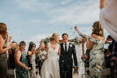 Bride and groom from a Romantic Waterside Wedding in Portugal. Photography by Ana Parker