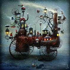 Alexander Jansson is a Swedish illustrator who describes himself on Facebook as some kind of artist, digital mixed media illustrator, 2D/3D animator [and] a mystery scientist.