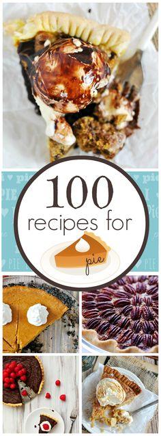 100 recipes for PIE   www.somethingswanky.com