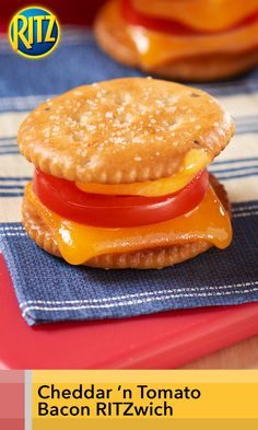 Bite-size snacking heats up with these melted Cheddar 'n Tomato Bacon RITZwiches. Savory flavors can really hit the spot after a day at school. And, they only take 10 minutes, start to finish.