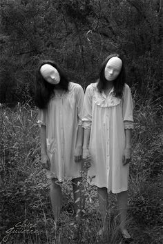 Claire Gutierrez photographed these scary, faceless ladies #InkedMagazine #Halloween #costumes #Horror #scary #faceless