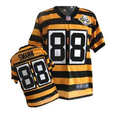 Men's Nike Pittsburgh Steelers #88 Lynn Swann Limited Alternate 80TH Anniversary Throwback Yellow Jersey$89.99