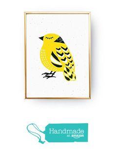 Scandinavian Bird Poster, Bird Illustration, Nursery Decor, Bird Art, Yellow Bird, Nursery Wall Art, Childrens Room Decor, Girls poster from Lovely Decor https://smile.amazon.com/dp/B01EHFSAW8/ref=hnd_sw_r_pi_dp_DNCczbQ1VB29S #handmadeatamazon
