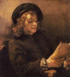 Rembrandt van Rijn - Titus van Rijn, le fils de l'artiste, lisant.Vienne, Kunsthistorisches Museum