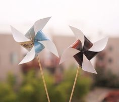 Custom Pinwheels with Instagram Photo Prints DIY