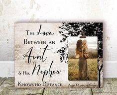 The love between an Aunt and Nephew Long Distance gift for Aunt Christmas Gift Auntie Gift Aunt Gift Aunt BIRTHDAY Gift Aunt gift from Niece