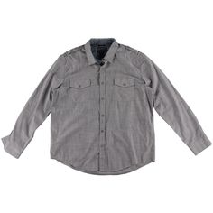 American Rag Mens Long Sleeve Shoulder Detail Button-Down Shirt
