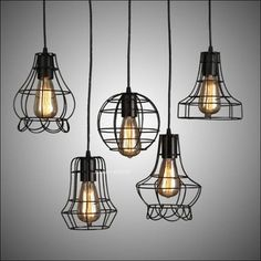 Industrielle Vintage pendentif lampe Loft rétro fer forgé salle à manger suspendus lumière Edison ampoule luminaire AC 110 V - 240 V
