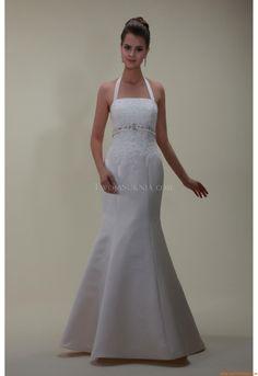 Meerjungfrau Maßgeschneiderte Elegante Brautkleider aus Satin mit Applikation